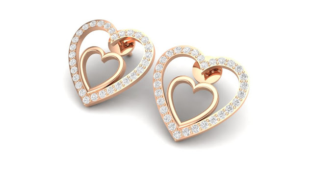 Evie Heard Diaomd Earrings. Rs.52,858-