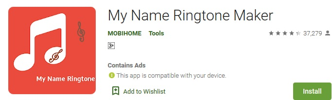 My name ringtone maker Apk, android Apk