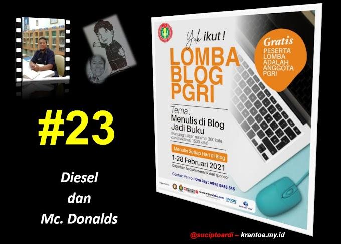 #23 – Diesel dan Mc.Donalds