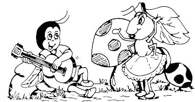 Imagem da fábula A CIGARRA E A FORMIGA