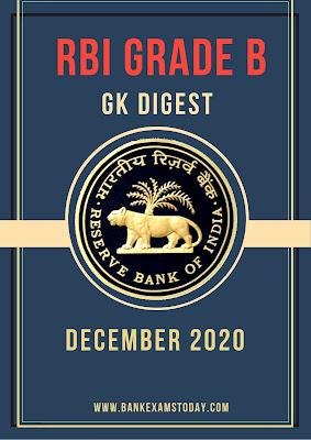 RBI Grade B GK Digest: December 2020
