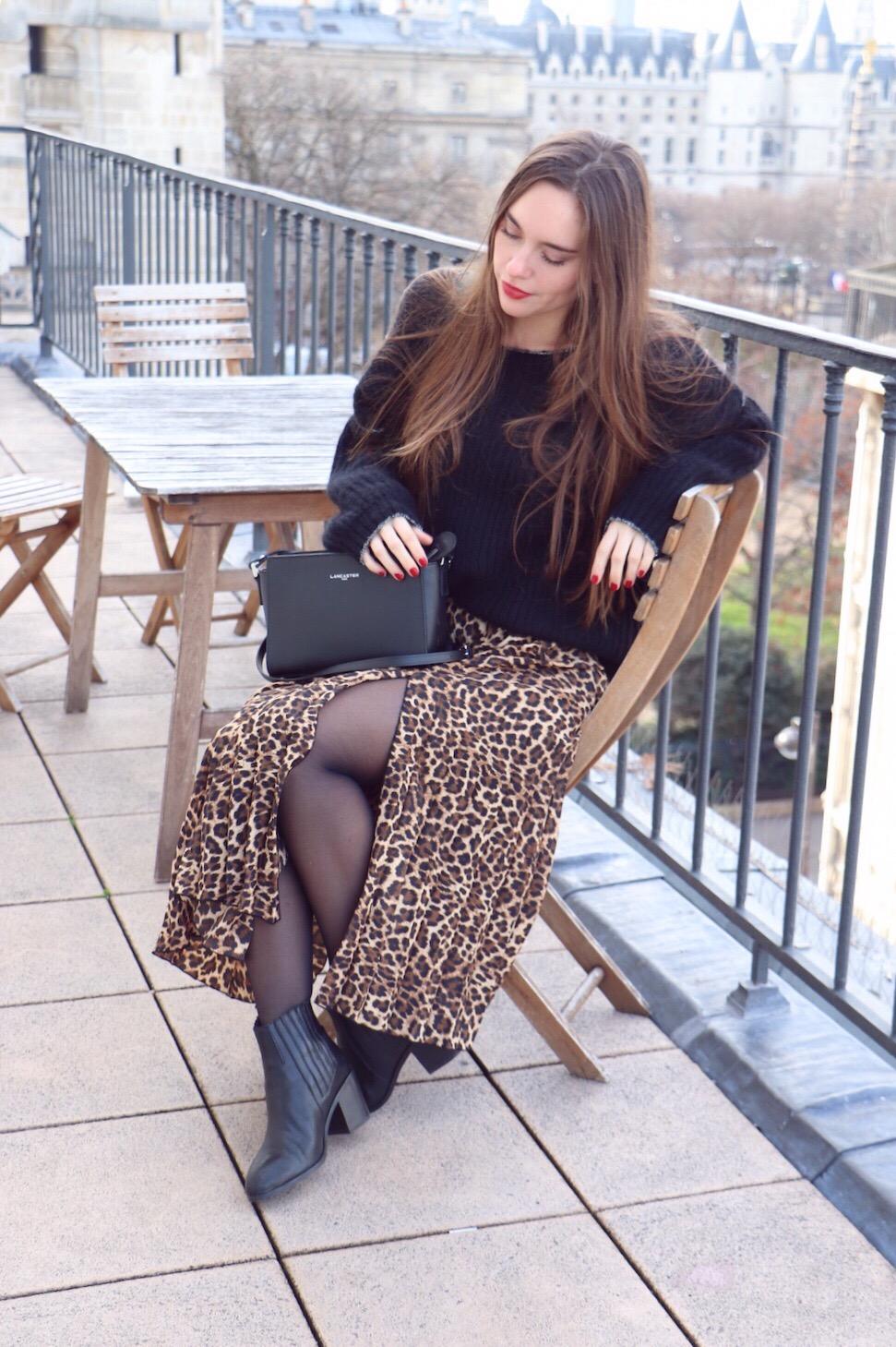 jupe midi leopard 2