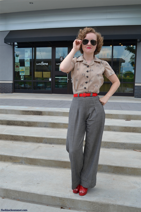 Flashback Summer: Bicentennial Blouse - 1970s 1940s vintage blouse