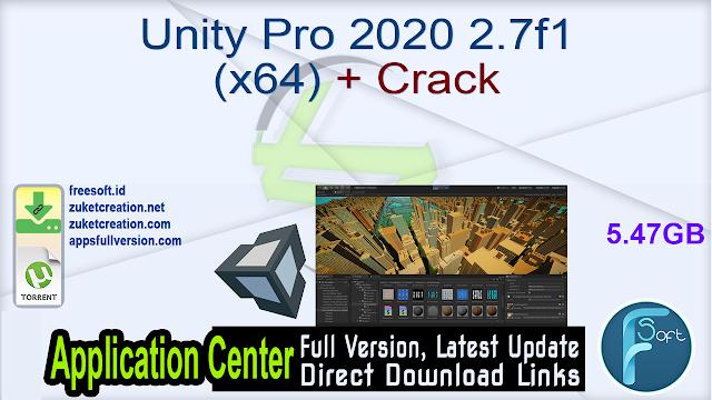Unity Pro 2020 2.7f1 (x64) + Crack