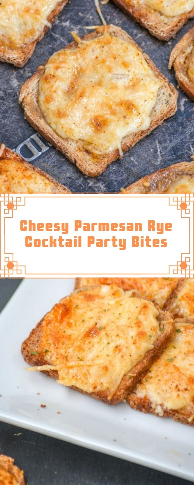 Cheesy Parmesan Rye Cocktail Party Bites