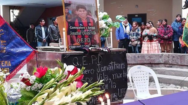 La UPEA lloró a su joven estudiante como mártir en la búsqueda de mayor presupuesto / ARCHIVO EL DEBER