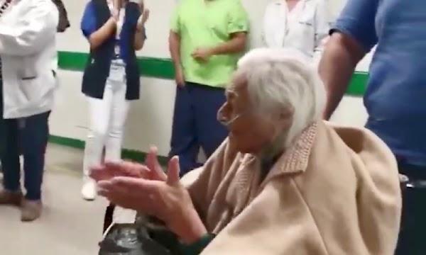 Doña Mary de 103 años vence sin dificultad  al Coronavirus en hospital de IMSS