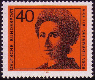 German Women 40 PF Rosa Luxemburg  1974