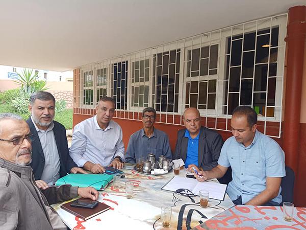 اجتماع مكتب الفرع الإقليمي لجمعية تنمية التعاون المدرسي بأكادير إداوتنان