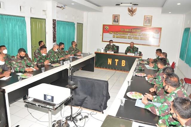 Korem 162/WB Terima Tim Dalproggar dan Wasgiat Binsisfo Kodam IX/Udayana.
