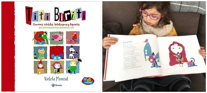 libros infantiles 0 a 3 años edad regalar navidad Titi biriti canciones populares cd