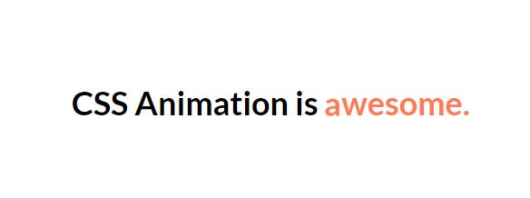 text animation - css output