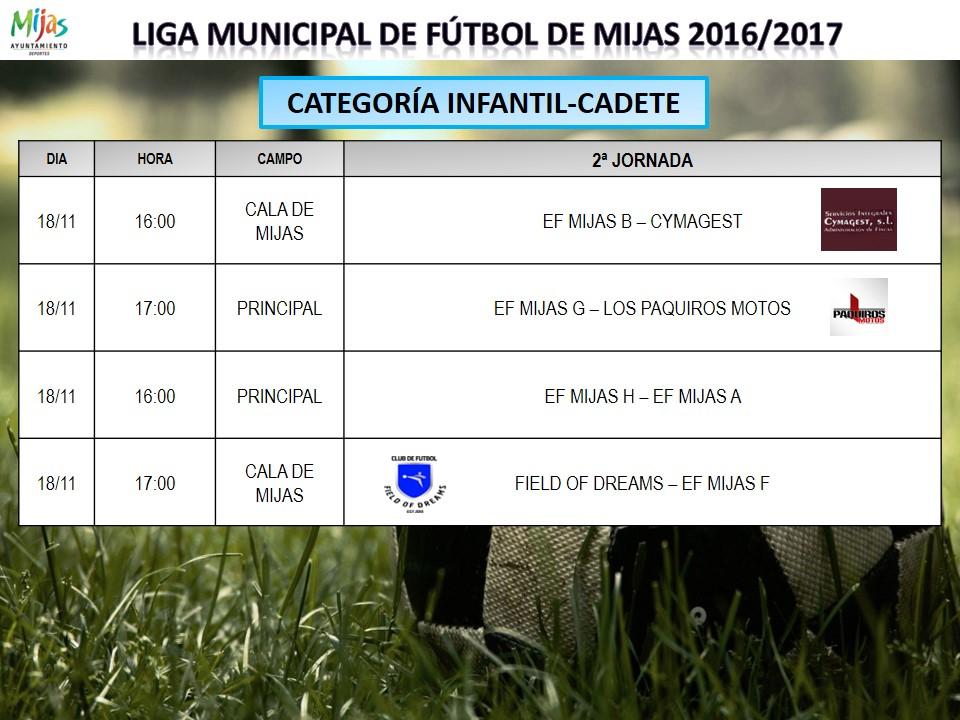 Horarios 2 j liga municipal 2016 2017 for Liga municipal marca