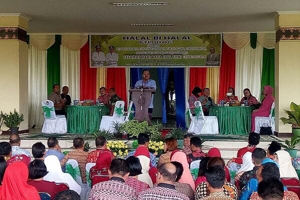 Halal Bihalal Silatuhrami Bersama Pejabat Daerah, Tokoh Masyarakat, Tokoh Agama, Tokoh Pemuda dan ASN di Lingkungan Pemkab Sekadau