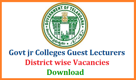 Telangana Board of Intermediate Education Guest Lecturers Recruitment Notification District wise vacancies details Download. cie guest lecturers Recruitment Notification Online Application starts on 8th July 2019 at Official website www.cie.telangana.gov.in. Interested and Eligible candidates may check the district wise Govt Junior Lecturers Vacancies and Apply Online for the Telangana Government Junior Colleges Guest Lecturers ts-telangana-guest-lecturers-district-wise-vacancies-download