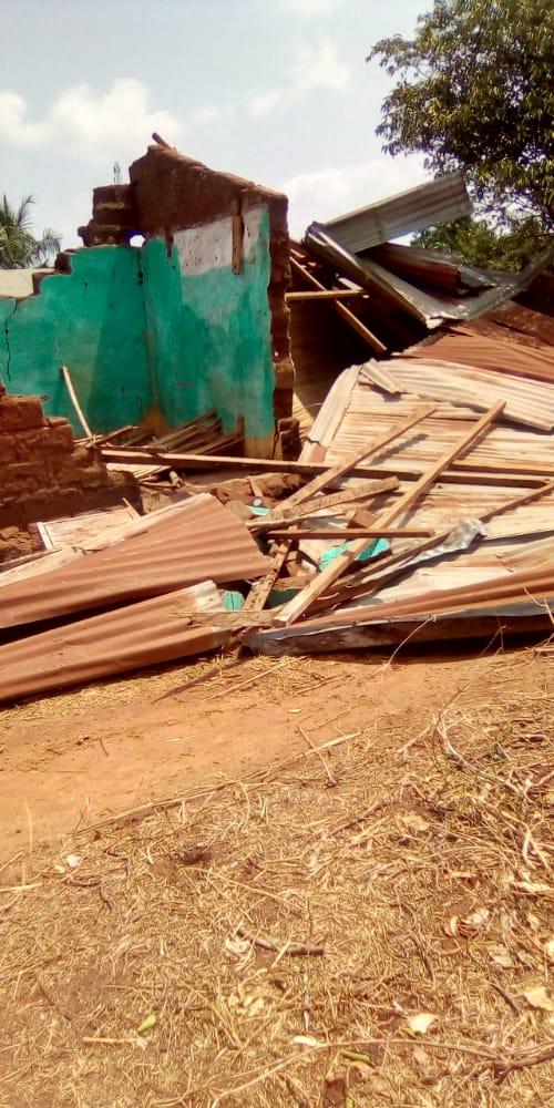 Dégâts matériels énormes dans le village de Homagan après l'intempérie