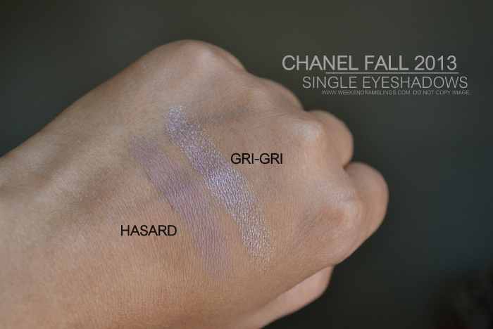 Chanel Fall 2013 Superstition Makeup Collection Ombre Essentielle Soft Touch Eyeshadow Singles Gri Gri Metallic HasardSwatches Indian Darker Skin Beauty Blog