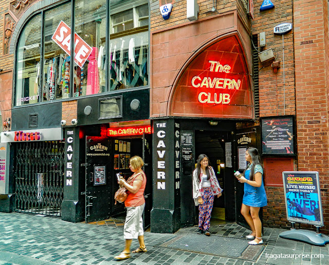 Fachada do Cavern Club, Liverpool, Inglaterra