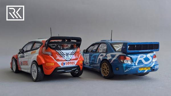 Zdjęcie modelu IXO Altaya Subaru Impreza S12B WRC, Rally Ronde Gomitolo di Lana 2012, Robert Kubica / Giuliano Manfredi