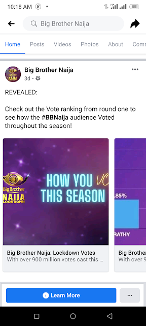 Big brother naija season five voting count
