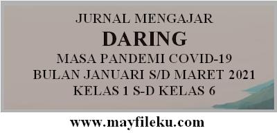 Jurnal Mengajar Daring Bulan Januari s/d Maret 2021