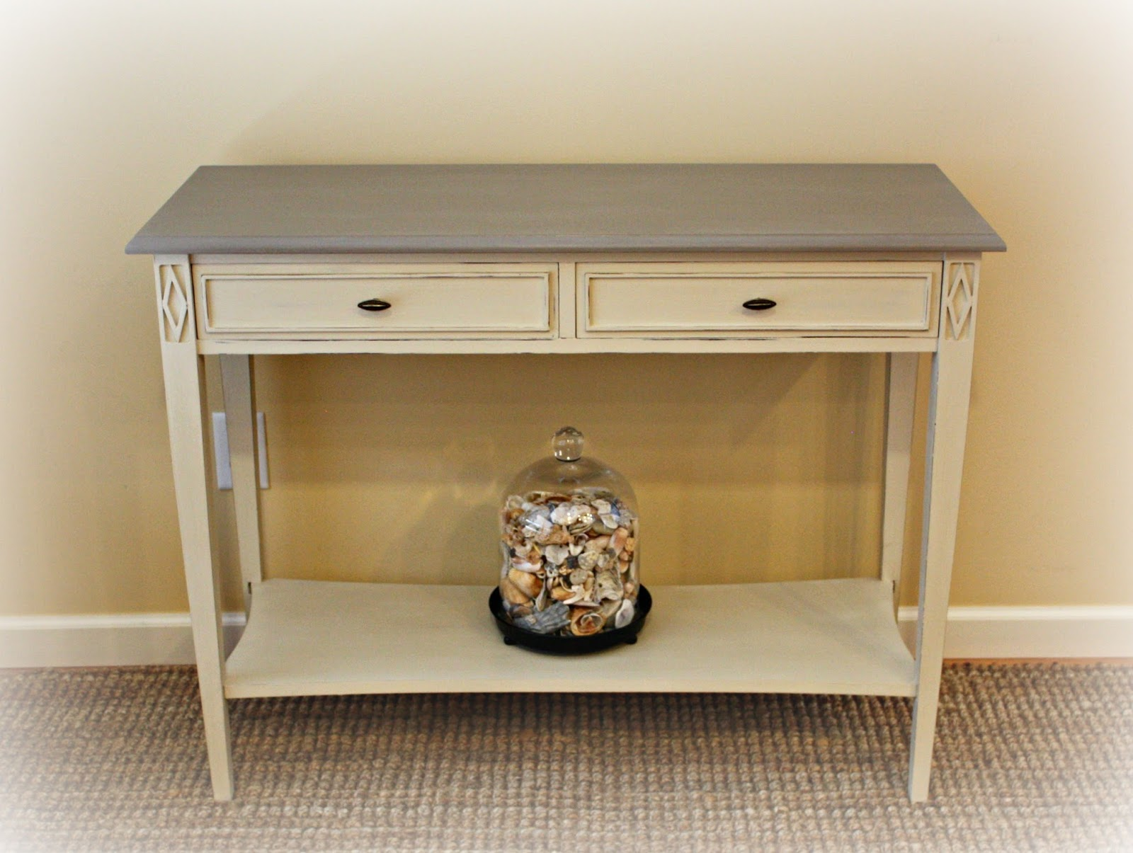 modern sofa table - modern sofa table transformed with chalk paint