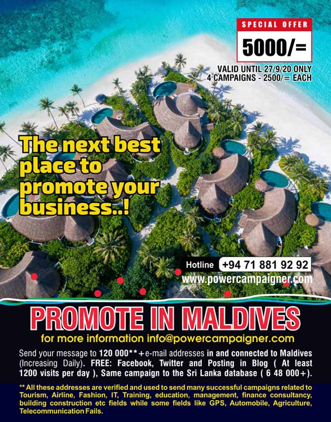 Powercampaigner - Promote in Maldives.