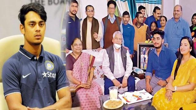 किशन का टीम इंडिया में सिलेक्शन होने के बाद घर और गांव में जश्न का माहौल