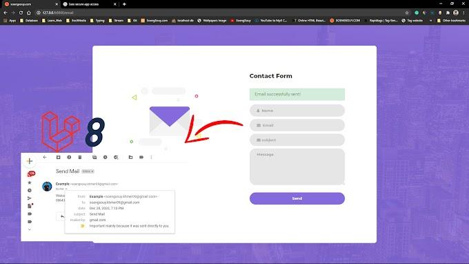 Mail Send in Laravel 8 Design CSS3 HTML5