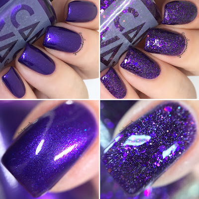 canvas lacquer violet uprising and electric avenue swatches