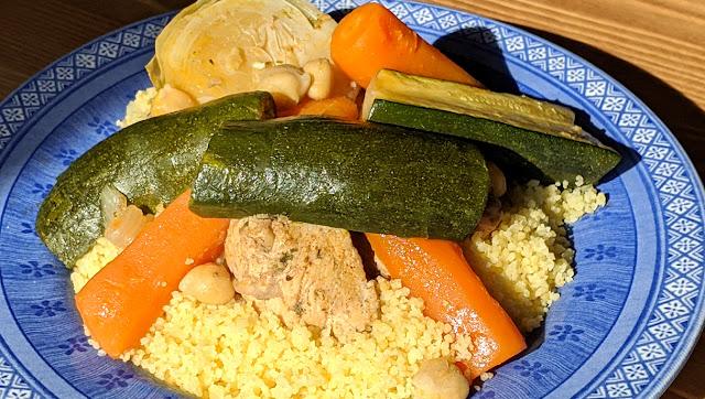 recette, couscous, marocain, couscous aux légumes, couscous au poulet, recette facile, un jour une recette, video