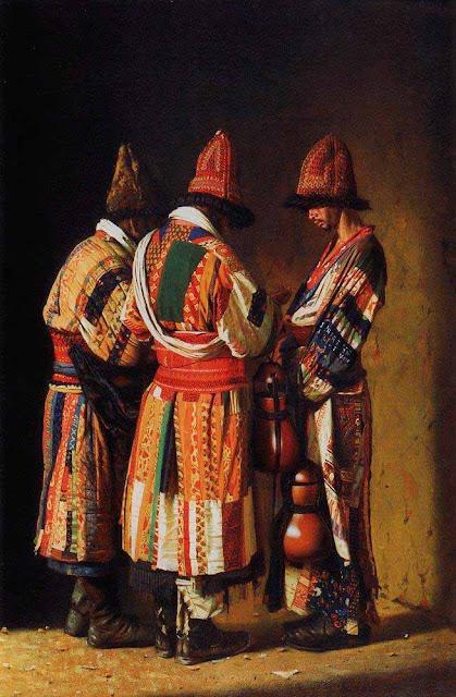 Василий Васильевич Верещагин - Дервиши в праздничных нарядах. Ташкент. 1869-1870