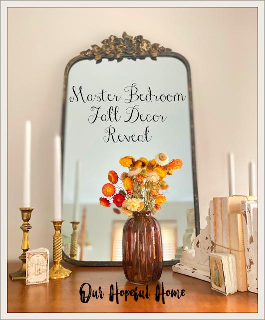 French mirror dresser candles flowers vase