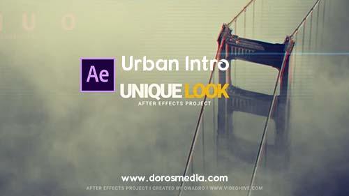 قوالب افتر افكت قاب إنترو مقدمة عرض إحترافي للافتر افكت Urban Intro  Free After Effects Template