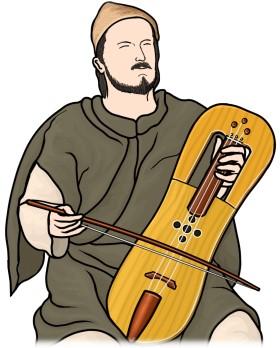 クルースを演奏する男性 / Crwth player