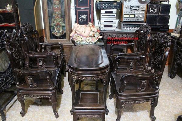 Bộ bàn ghế gỗ trắc 6 món gồm những gì?