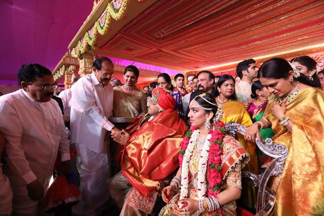 Venkaiah naidu at subbarami reddy grandson wedding