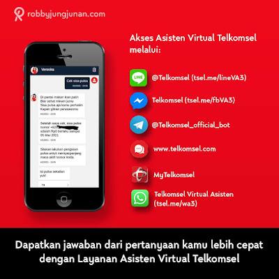 cara akses asisten virtual telkomsel