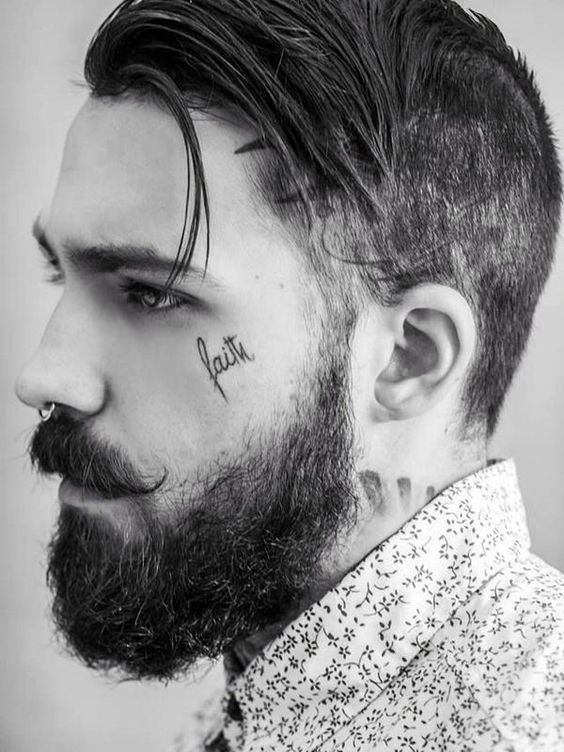 faith Word Tattoo on Face