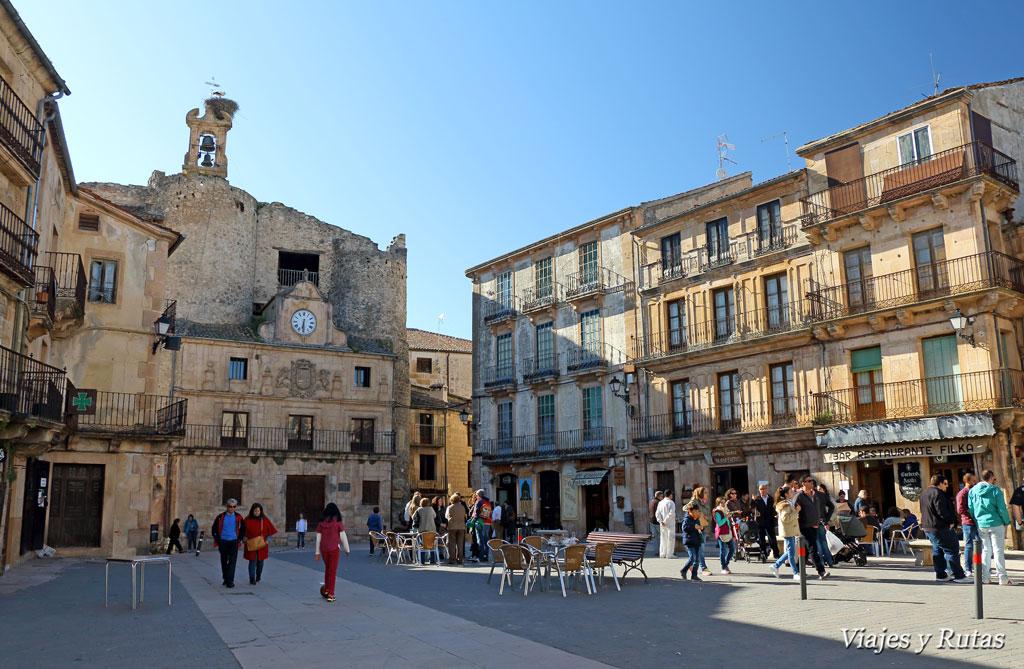 Plaza Mayor y castillo del Conde Fernán González, Sepúlveda
