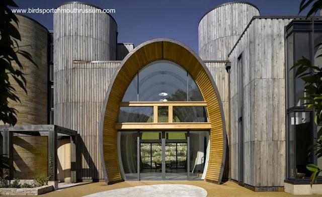 Casa orgánica al sur de Inglaterra con estructura de madera