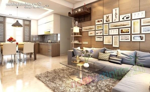 Trang trí nội thất phòng khách cho căn hộ 70m2
