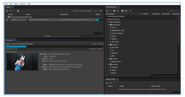 Adobe Media Encoder CC 2018 ​Free Download​ latest version for windows
