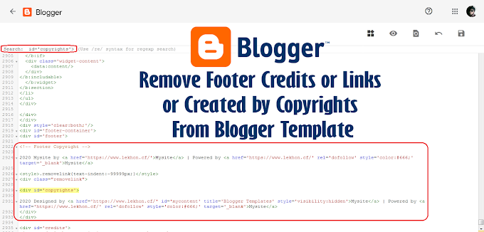 Remove Footer Credits or Links From Blogger