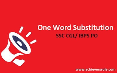 English Grammar: One Word Substitution Lists - 6