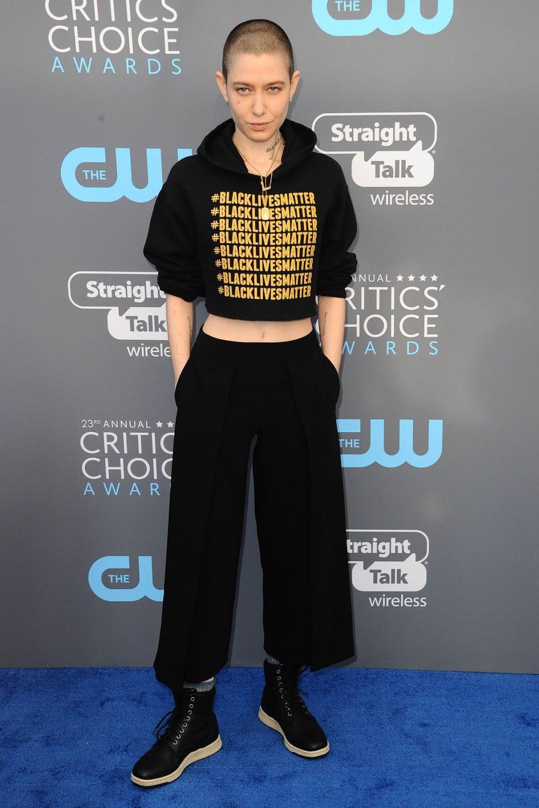 HD Photos of Asia Kate Dillon At 2018 critics Choice Awards In Santa Monica