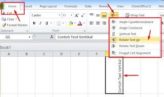 Cara Membuat Tulisan ke Bawah di Excel