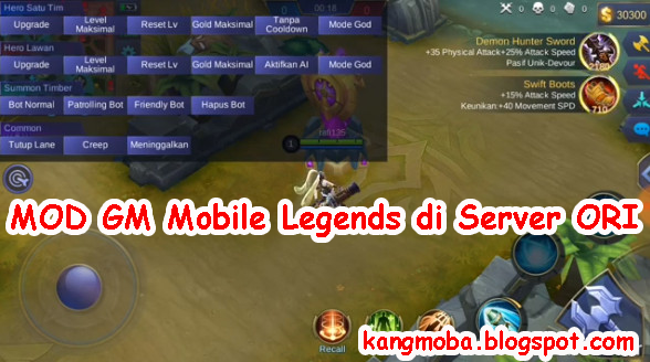 "Resmi MOD GM Mobile Legends ""Kini Mau Rilis di Server ORI"" - Mobile Legends"