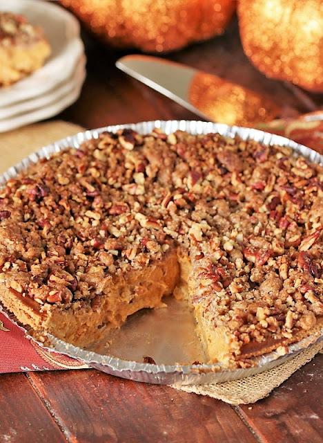 Whole Pecan Streusel Pumpkin Pie Image