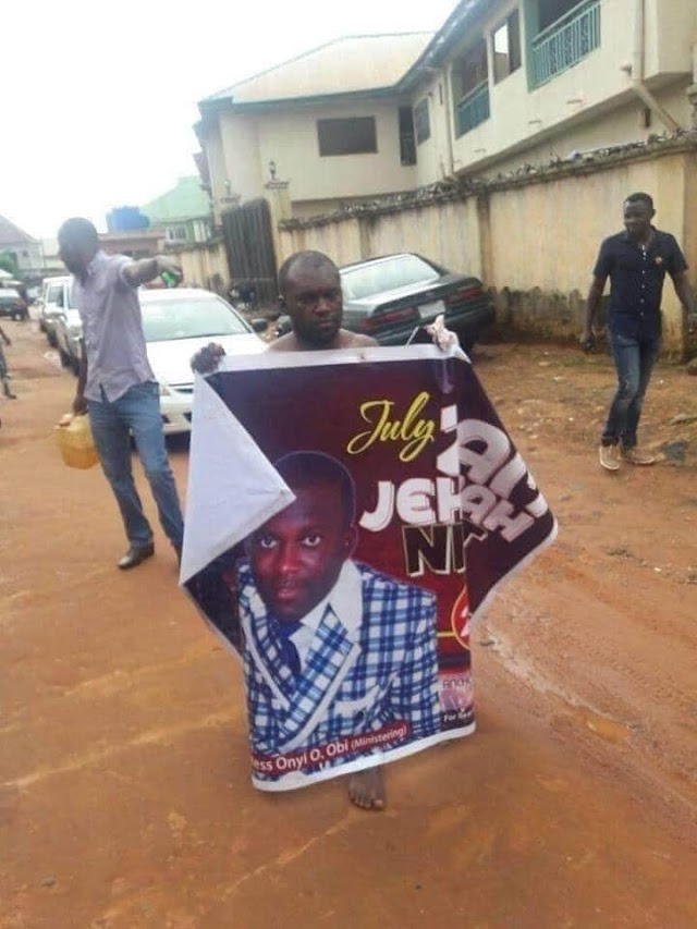 Pastor Caught Having S*x With Married Woman In Asaba and Paraded by Street Boys (See Photos)